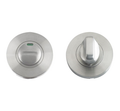 Zoo Hardware ZCS004i Bathroom Toilet Turn Release with Indicator Privacy Lock - Satin Stainless Steel