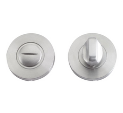Zoo Hardware ZCS2004 Bathroom Toilet Turn Release Privacy Lock - Satin Stainless Steel