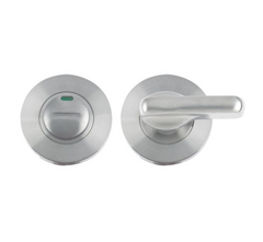 Zoo Hardware ZCS2006i Disabled Bathroom Toilet Turn Release with Indicator Privacy Lock - Satin Stainless Steel