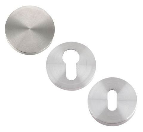 Zoo ZCS Escutcheon Key Hole Door Cover - Satin Stainless Steel