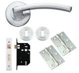 Toledo Internal Door Handle Packs on Rose