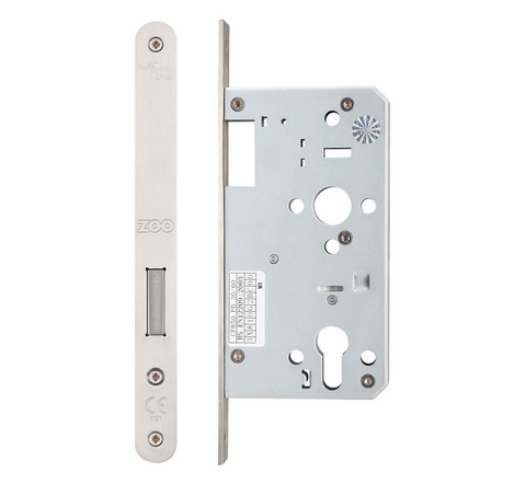 Zoo ZDL0060 Mortice DIN Euro Deadlock 60mm - Satin Stainless Steel