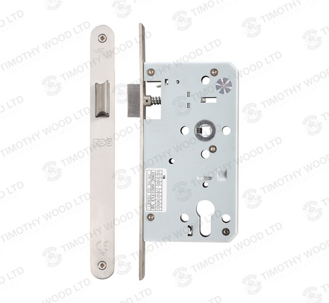 Zoo ZDL0060L Mortice DIN Latch 60mm - Satin Stainless Steel