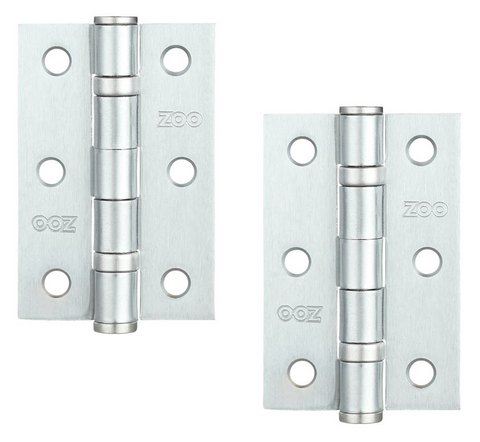 Zoo Hardware ZHS32 Steel Ball Bearing Butt Hinge 3""