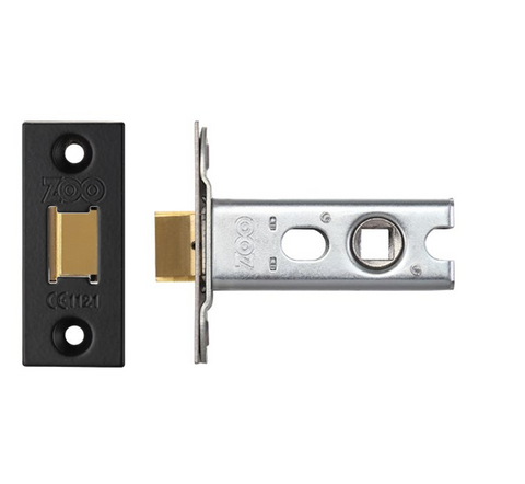Zoo ZTLKA Architecural Mortice Tubular Latch - Black