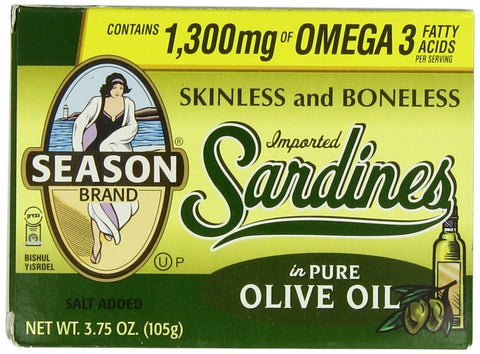 Sardines in  Pure Olive Oil Skinless
