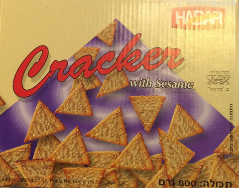 Cracker Triangles with Sesame