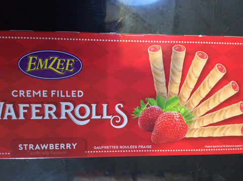 Wafer Rolls Strawberry Flavored