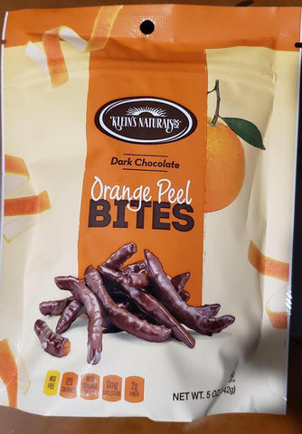 Dark Chocolate Orange Peel Bites