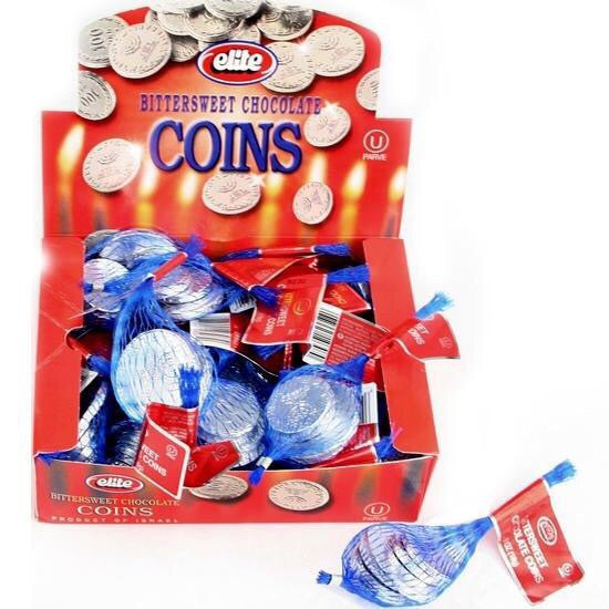 Chanukah Bittersweet Chocolate Coins