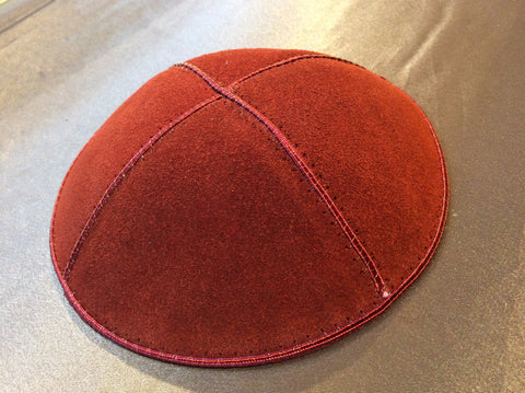 Jewish Kippah Leather Suede Yarmulka