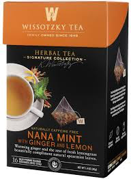 Wissotzky Tea Nana Mint With Ginger and Lemon