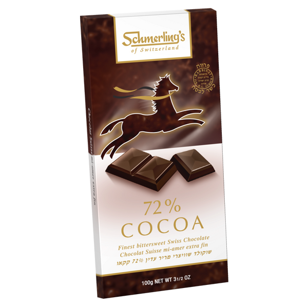 Finest Bittersweet Swiss Chocolate Cocoa 72%