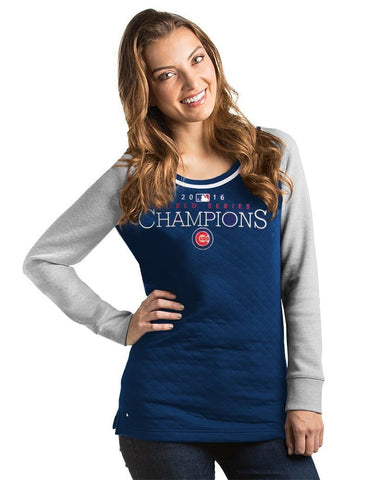 Chicago Cubs World Series Champion Womens MVP Pullover 2016, MLB Apparel, Antigua - www.golfdirectnow.com