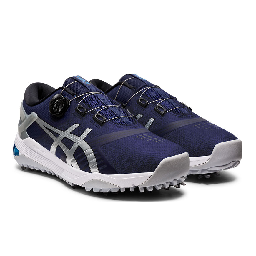 Asics Gel Course Duo Boa Golf Shoes Peacoat/Pure Silver