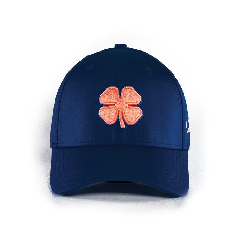 Black Clover Premium Clover 85 Federal Blue/Red Peach Fitted Hat