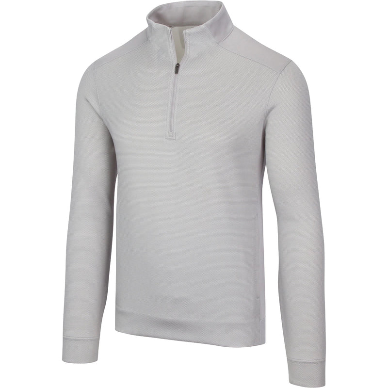 Greg Norman Stretch Jacquard 1/4 Zip Mock Pullover - 2020