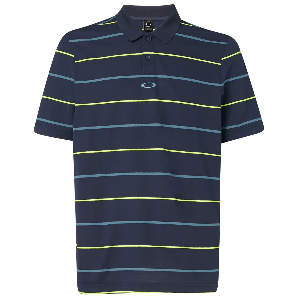 Oakley Mens Piquet Striped Polo
