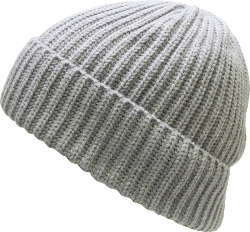 Ribbed Beanie Solid Winter Ski Hat