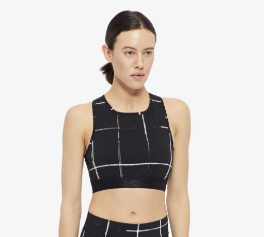 J. Lindeberg Alexis Printed Jersey Sports Bra Top