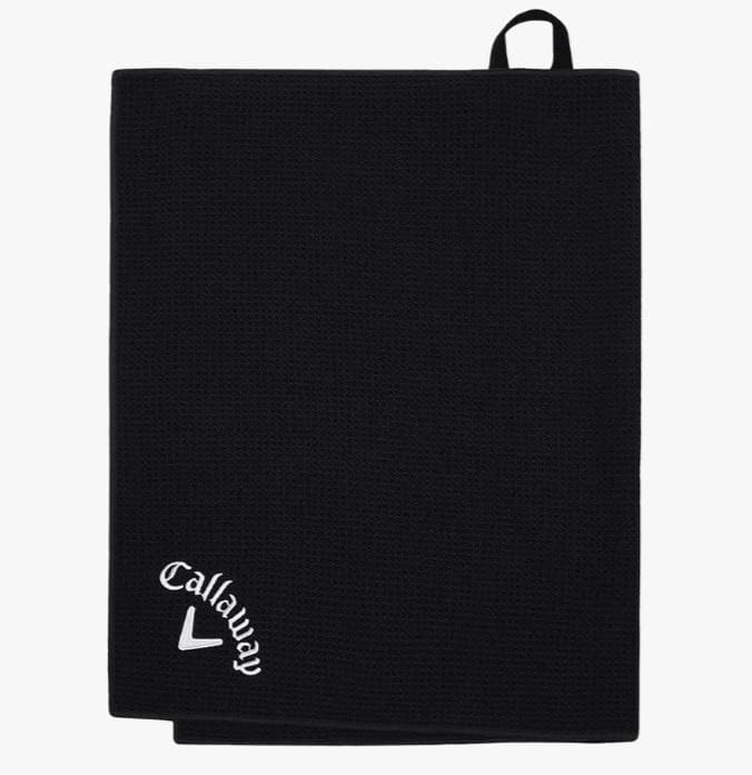 Callaway Players Black Microfiber Golf Towel