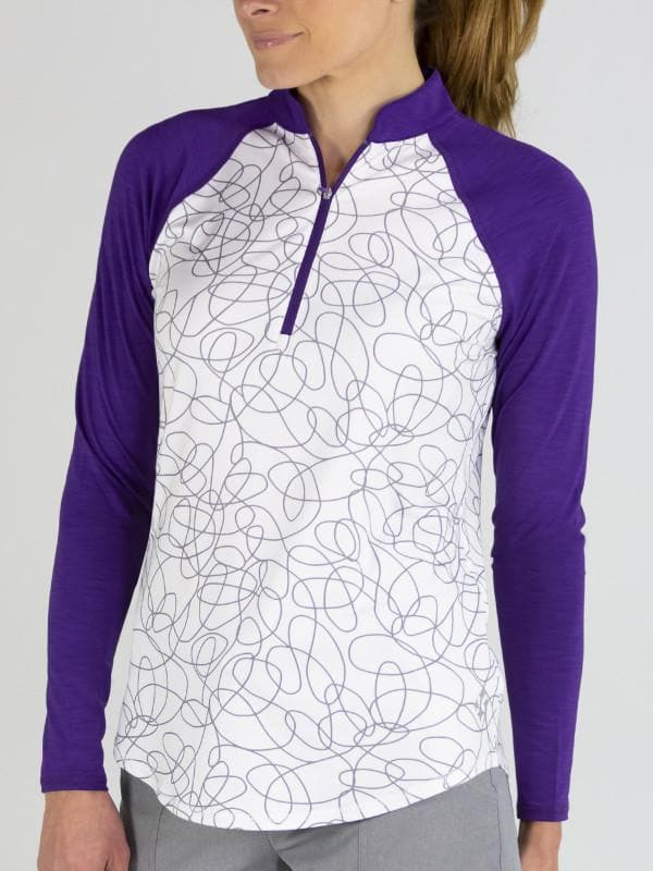 Jofit Womens Long Sleeve Mock Purple Mist #UT082-SSW