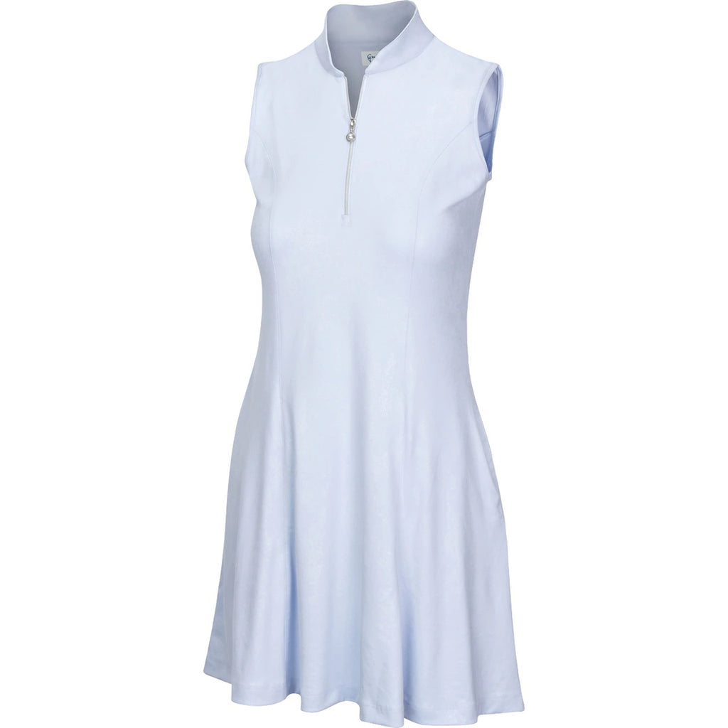 Greg Norman Womens ML75 Brilliance Zip Flare Dress 2020