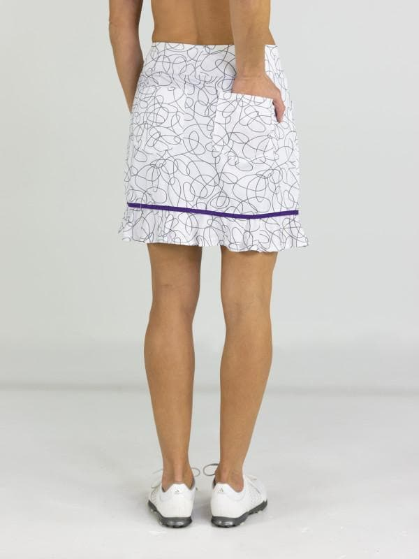Jofit Womens Piped Ruffle Skort Long Siera Swirl #GB158-SSW