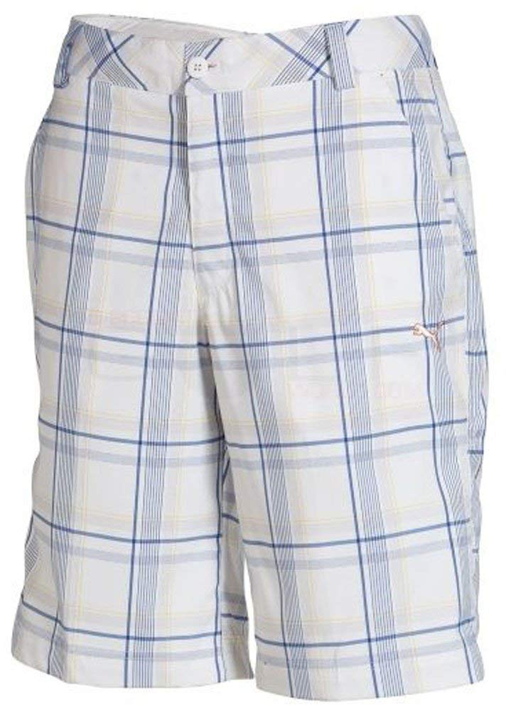 Puma Boys Golf Plaid Tech Short Junior