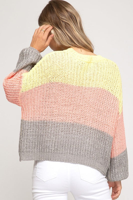 Sherbert Stripes Knit Sweater