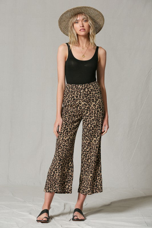Animal Instincts Cropped Bell Bottoms