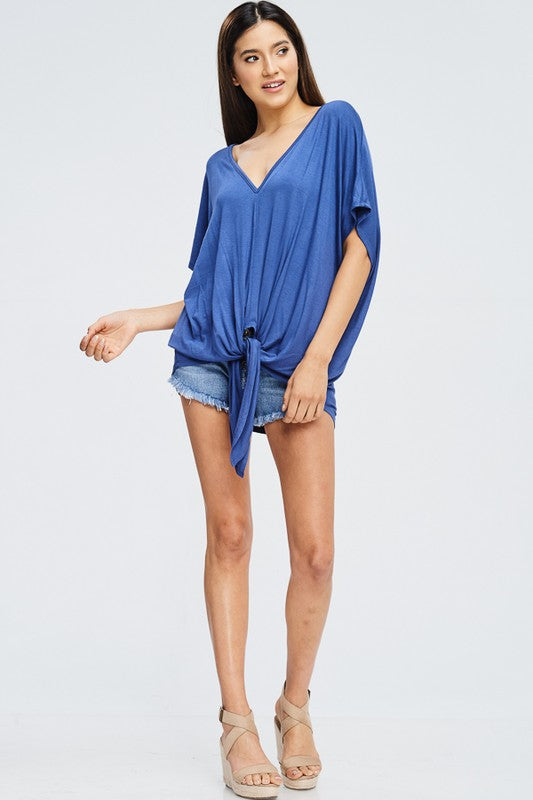 Lush Front Tie Top (Blue)