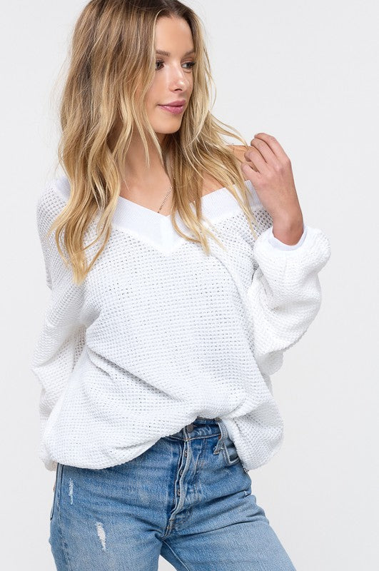 The Betty Sweater (white)