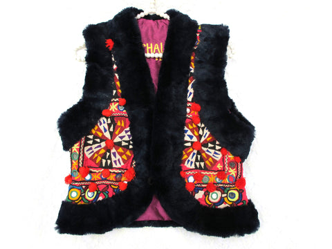 Short Ethnic Vest Fire - size S