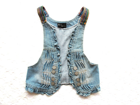 Denim Vest Sea - size M/L