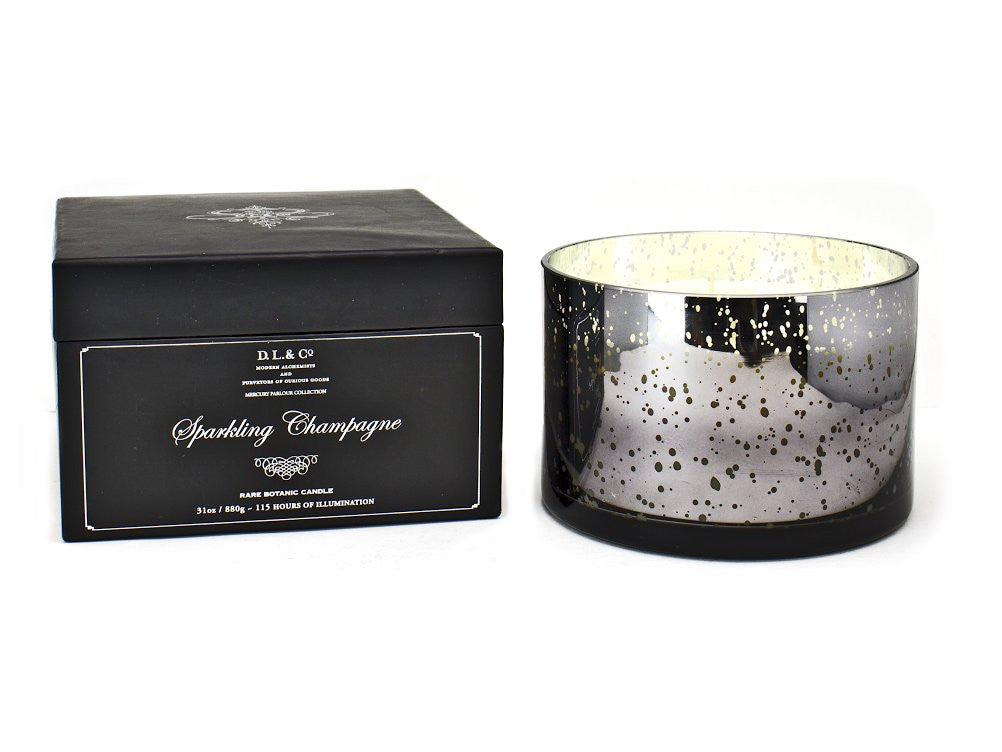 Beautiful 4 wick candle in an oversized pearlised housing, by DL&C and brought to you by Velvet Fleur