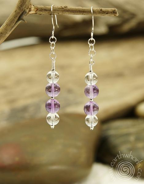 "EarthWhorls Celebrates Amethyst The Birthstone for February With a 25% off ""All Amethyst Designs"" sale Code: MYAMETHYST"