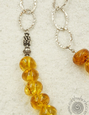 Murano Glass & Sterling Silver Necklace - EarthWhorls, LLC