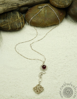 Agate & Silver Pendant Necklace - EarthWhorls, LLC