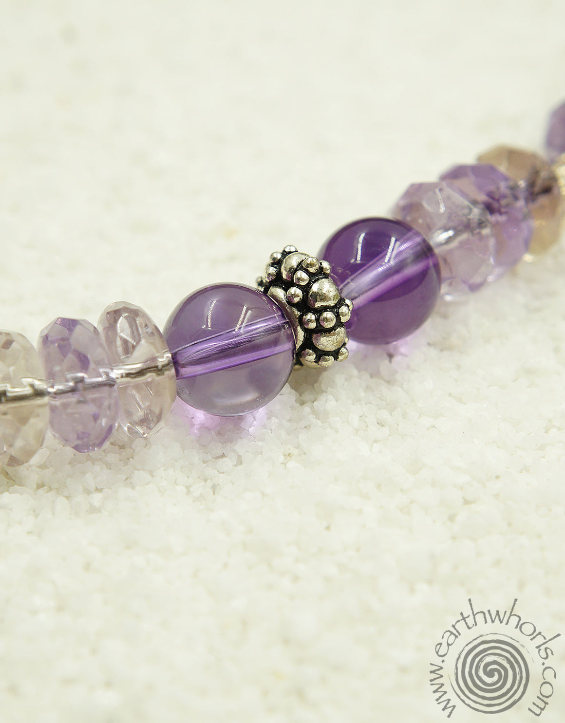 Amethyst & Hill Tribe Silver Necklace - EarthWhorls, LLC