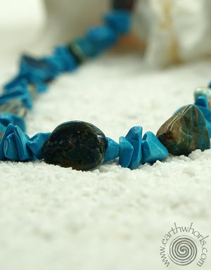 Turquoise, Blue Opal & Sterling Silver Necklace