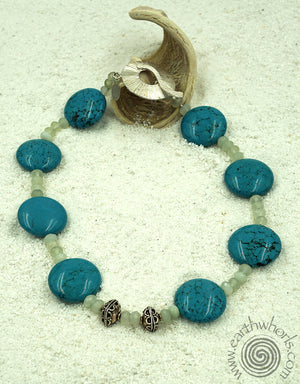 Turquoise, Moonstone & Sterling Silver Necklace