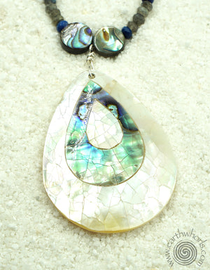 Abalone & Labradorite Necklace - EarthWhorls, LLC