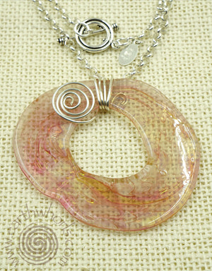 Handmade Glass Pendant & Sterling Silver Necklace - EarthWhorls, LLC