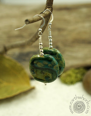 African Clay Earrings - EarthWhorls, LLC