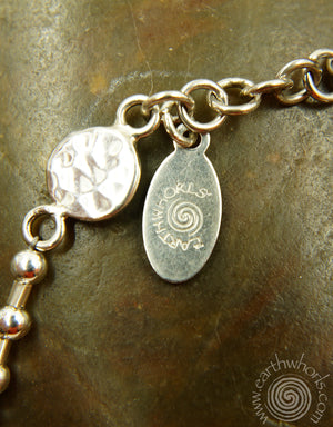 Coral, Pearl & Sterling Silver Necklace - EarthWhorls, LLC