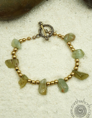 Aquamarine Bracelet - EarthWhorls, LLC