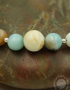 Natural Stone & Silver Bracelet - EarthWhorls, LLC
