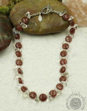 Gemstone & Crystal Necklace - EarthWhorls, LLC