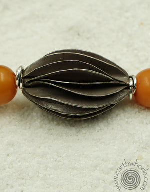 African Amber Necklace - EarthWhorls, LLC